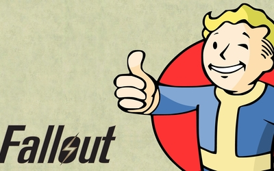Vault Boy dressed in blue - Fallout wallpaper