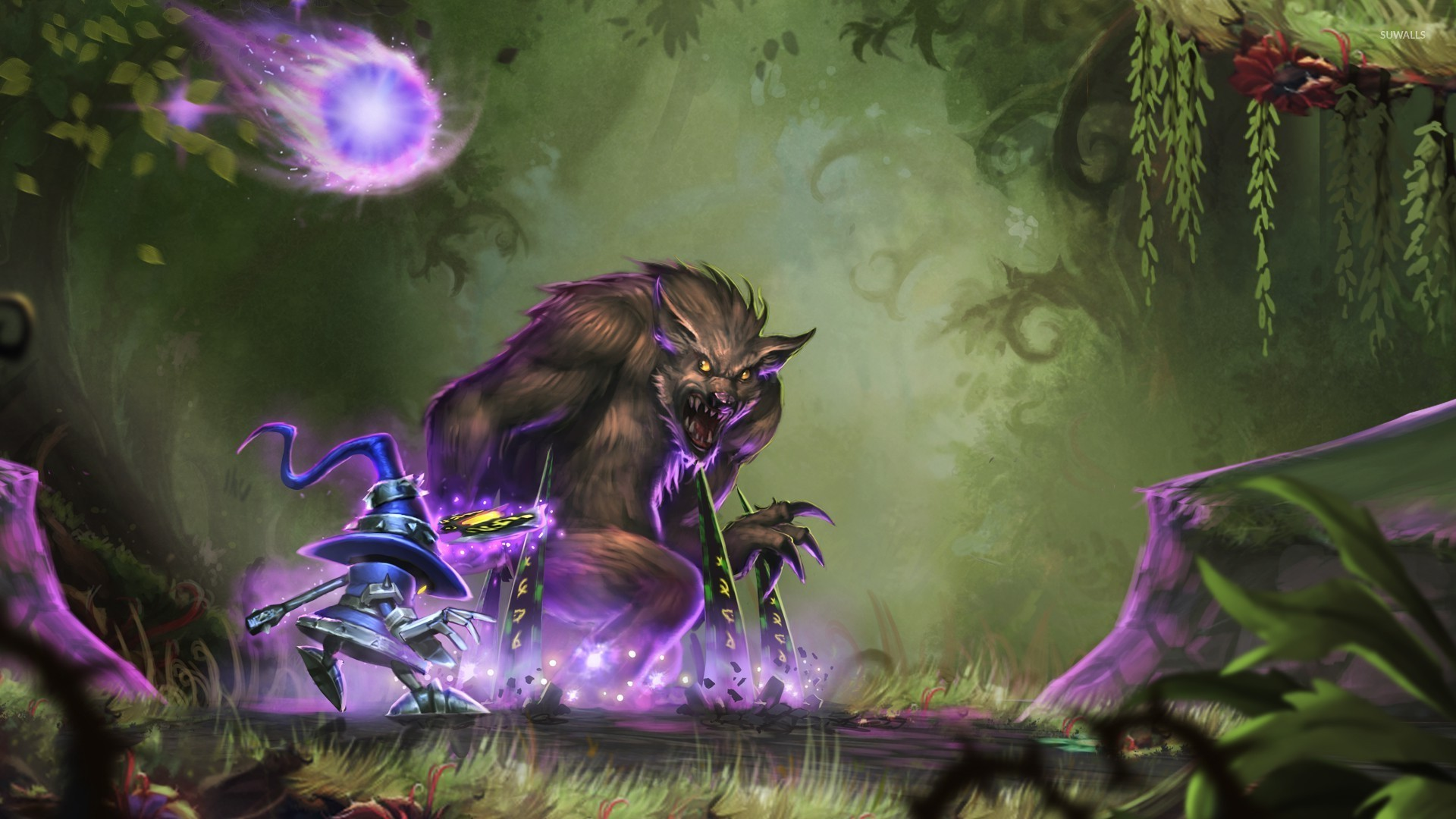 Veivar And Warwick From League Of Legends Wallpaper Game