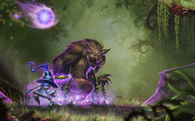 Veivar and Warwick from League of Legends wallpaper