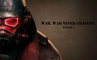 War never changes - Fallout wallpaper
