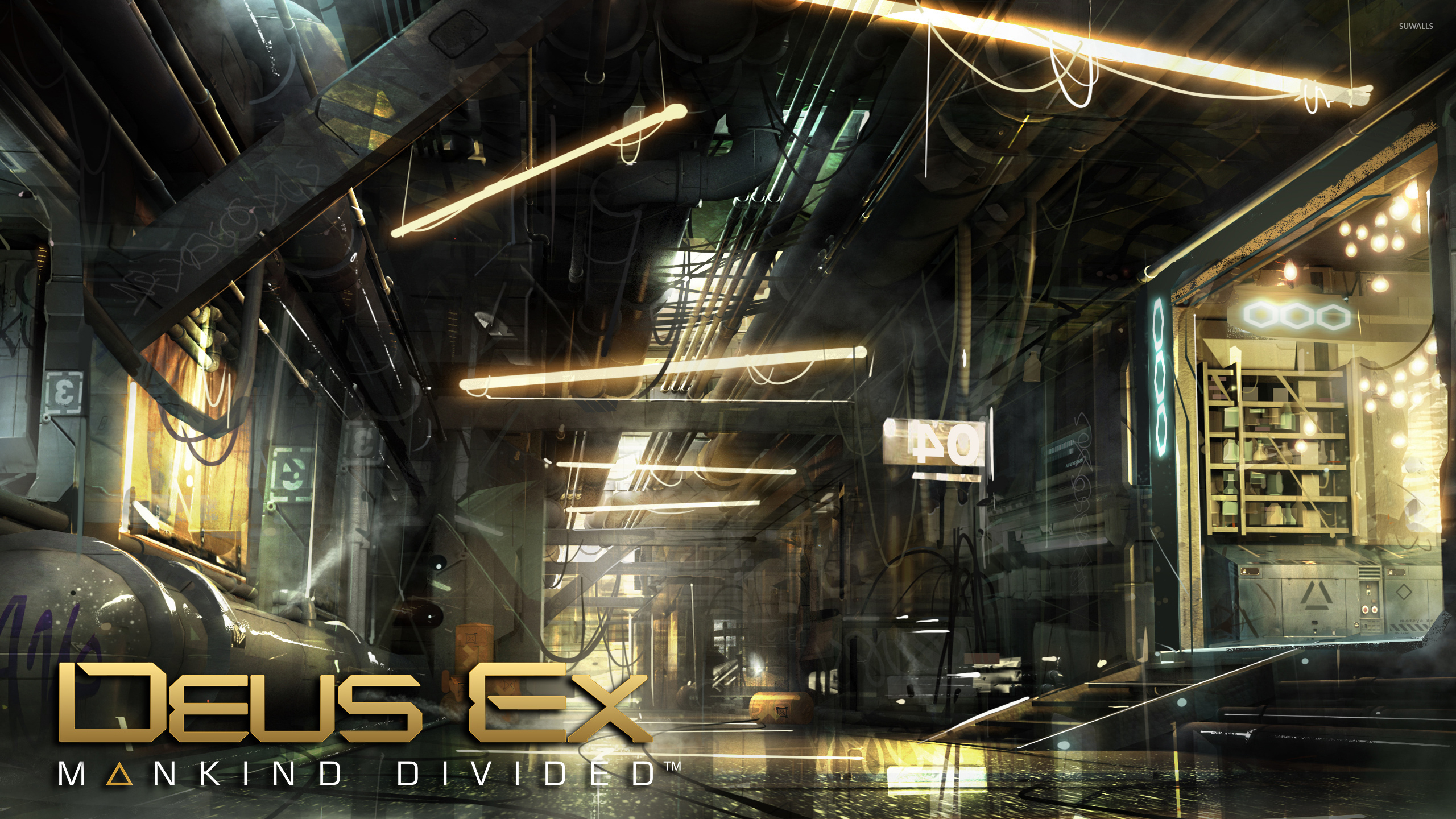 Warehouse In Deus Ex Mankind Divided Wallpaper Game Wallpapers