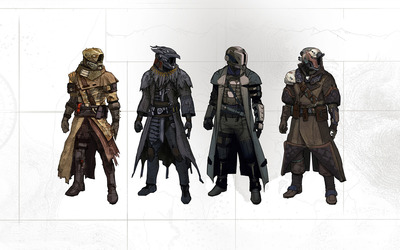 Warlock armors - Destiny wallpaper
