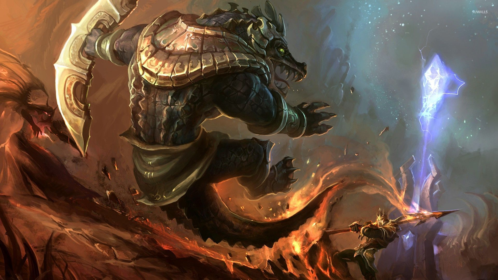 Warriors Fighting In League Of Legends Wallpaper Game Wallpapers