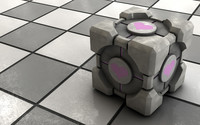 Weighted Companion Cube [2] wallpaper 1920x1200 jpg