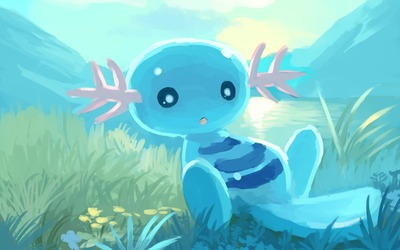 Wooper from Pokemon wallpaper