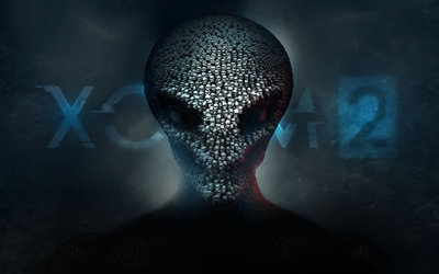 Alien head made out of skulls in XCOM 2 wallpaper