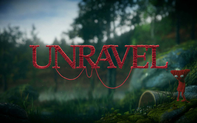 Yarny in the forest - Unravel wallpaper