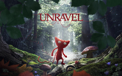 Yarny in the woods - Unravel wallpaper