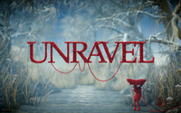 Yarny on the frozen river - Unravel wallpaper 1920x1080 jpg
