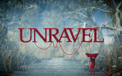 Yarny on the frozen river - Unravel wallpaper