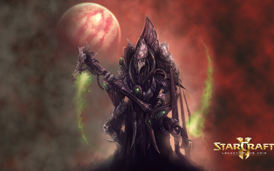 Zer'atai warrior in StarCraft II: Legacy of the Void wallpaper