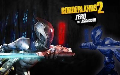 Zero the Assassin with a sword - Borderlands 2 wallpaper