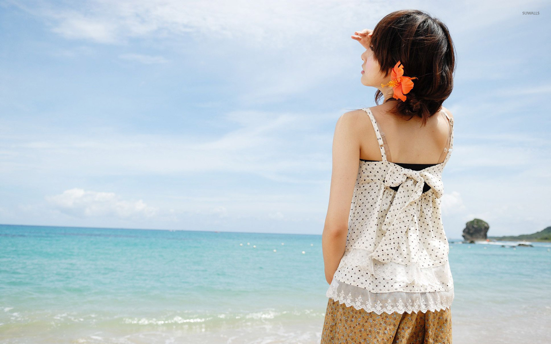 Asian Girl At The Beach Wallpaper Girl Wallpapers 28902