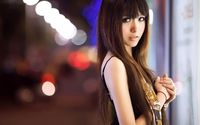 Asian girl with long hair wallpaper 1920x1080 jpg
