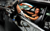 Beautiful girl in her car wallpaper 2560x1600 jpg
