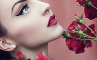 Beautiful red lips wallpaper 1920x1200 jpg