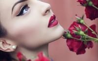 Beautiful red lips wallpaper 1920x1200 jpg
