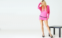 Blonde girl in a pink dress wallpaper 1920x1200 jpg