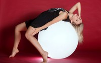 Blonde girl on a lit orb wallpaper 2560x1600 jpg