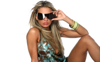 Blonde with sunglasses wallpaper 1920x1200 jpg