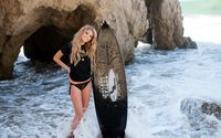Blonde with surfboard wallpaper 2560x1600 jpg