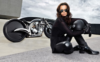 Brunette with sunglasses wallpaper 1920x1200 jpg