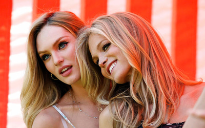 Candice Swanepoel and Erin Heatherton wallpaper