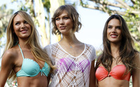 Candice Swanepoel, Karlie Kloss and Alessandra Ambrosio wallpaper 1920x1200 jpg