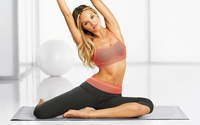 Candice Swanepoel stretching wallpaper 1920x1200 jpg
