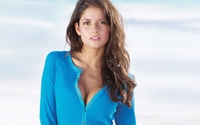 Carla Ossa in a blue shirt wallpaper 1920x1200 jpg