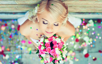 Cute blonde bride wallpaper 1920x1200 jpg