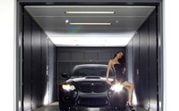Cute brunette on a BMW M3 wallpaper 1920x1200 jpg