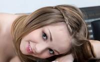Cute girl with braided hair close-up wallpaper 1920x1080 jpg