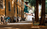 Girl jumping wallpaper 1920x1200 jpg