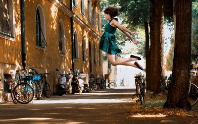 Girl jumping wallpaper