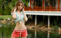 Hot girl in shorts wallpaper 1920x1200 jpg