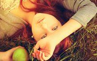 Redhead in the grass wallpaper 1920x1080 jpg