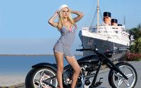 Sailor girl with a bike wallpaper 1920x1200 jpg