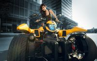 Sensual asian girl on a ATV wallpaper 1920x1200 jpg