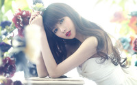 Superb model with red lips wallpaper 1920x1080 jpg
