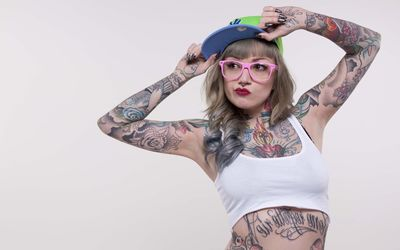 Tattooed girl wallpaper