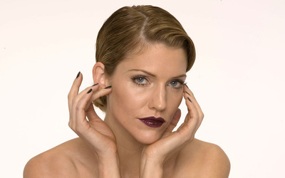 Tricia Helfer with black nails wallpaper