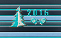 2016 with a Christmas tree and mittens wallpaper 2880x1800 jpg