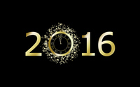 2016 with a golden clock wallpaper 2880x1800 jpg