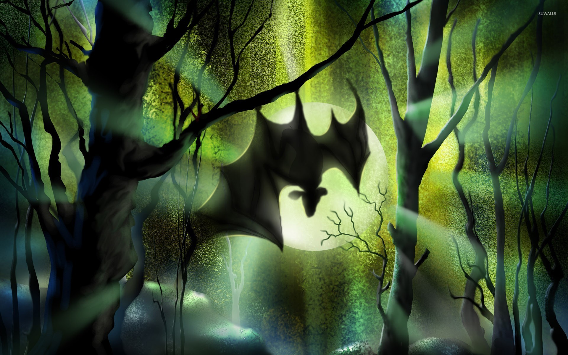 Bat Hanging From A Tree Wallpaper Holiday Wallpapers HD Wallpapers Download Free Images Wallpaper [1000image.com]