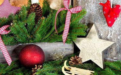 Beautiful Christmas decoration wallpaper
