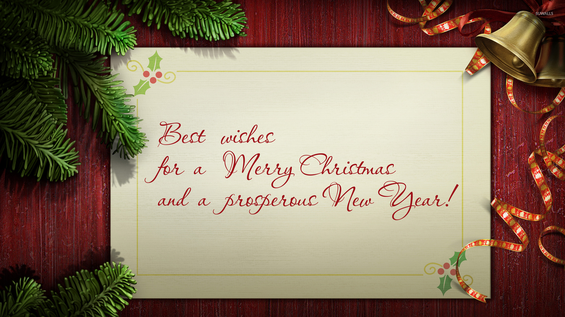 Best wishes on Christmas day and a Happy New Year wallpaper