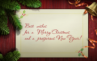Best wishes on Christmas day and a Happy New Year wallpaper 1920x1080 jpg