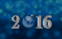 Blue bauble in 2016 wallpaper 2880x1800 jpg