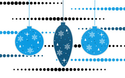 Blue Christmas baubles wallpaper